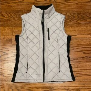Andrew Marc Vest gray size small.